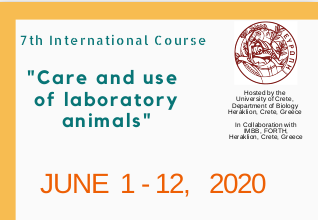 "CALL FOR APPLICATIONS : 7th International Course - ""Care and Use of Laboratory Animals: mice, rats and zebrafish"""
